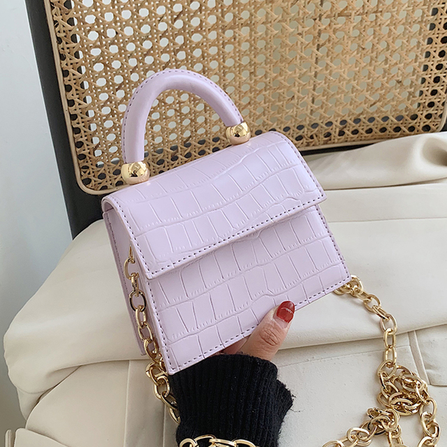 Stone patent mini Crossbody Bags 2020