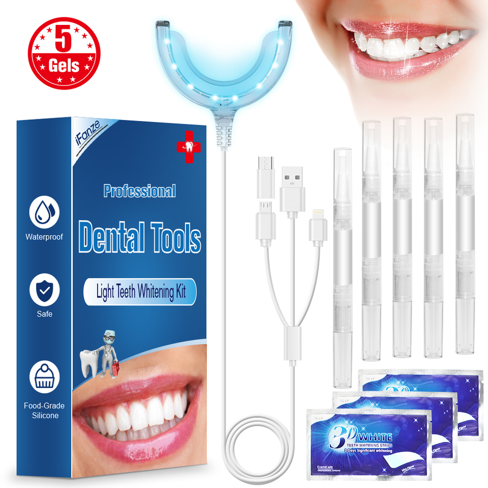 Ifanze Cold Light Teeth Whitening Kit Dental Tooth Whiten Pen Oral