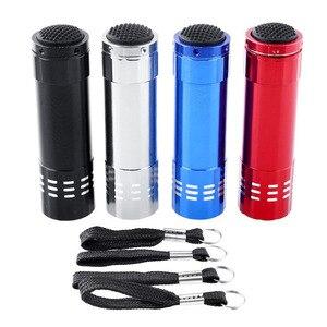 Image 2 - Lampe sèche ongles professionnel, Mini lampe de poche LED, Portable, outil de séchage des ongles Gel à séchage rapide en 15s, 1 pièce