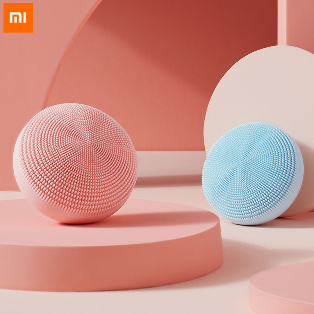 Xiaomi Mijia Electric Face Cleansing Brush Ultrasonic Skin Scrubber Silicone Sonic Vibrator Cleaner Facial Cleaning Device