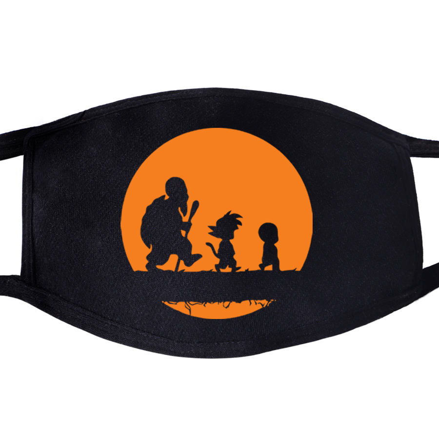 Dragon Ball Japanese Anime Master Roshi Funny Face Mask Mouth Fabric Anti Dust Unisex Black Dustproof Protective Cover Masks