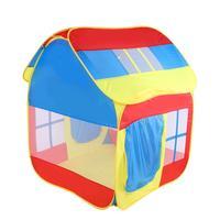 Hot Portable Kid Tent House Princess Castle Present Hang Flag Children Teepee Play Tent Birthday Christmas Gift Outdoor Kids Hou