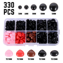 330pcs 5-12mm Plastic Crafts Safety Eyes For Teddy Bear Soft Toy Animal Doll Colorful Nose eyes Creative Craft DIY Accessories