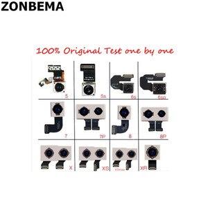 Image 1 - 10Pcs Originele 100% Test Werken Camera Back Rear Met Flash Module Sensor Flex Kabel Voor Iphone 7 8 Plus
