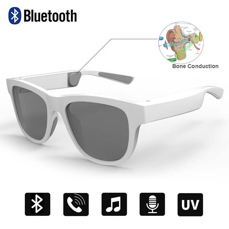 Conway Bluetooth Sunglasses Bone Conduction Touch Control Headphone Glasses Smart Audio Headsets Open-ear Music&Voice Calling