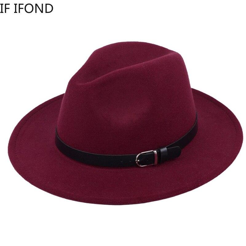 Classic British Fedora Hat Men Women Imitation Woolen Winter Felt Hats Men Fashion Jazz Hat Fedoras Chapeau wholesale 2