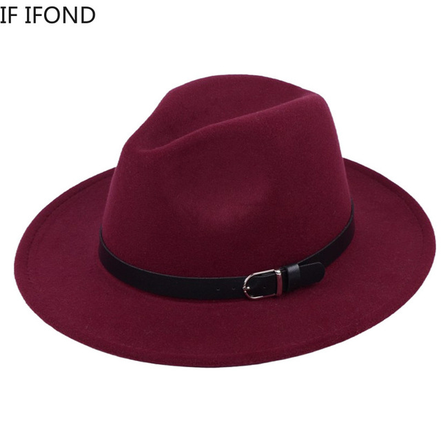 Classic British Fedora Hat Men Women Imitation Woolen Winter Felt Hats Men Fashion Jazz Hat Fedoras Chapeau wholesale 2