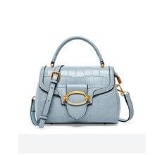 Handbag Female Messenger-Bags Crossbody-Bag Cowhide Genuine-Leather High-Quality Fashion