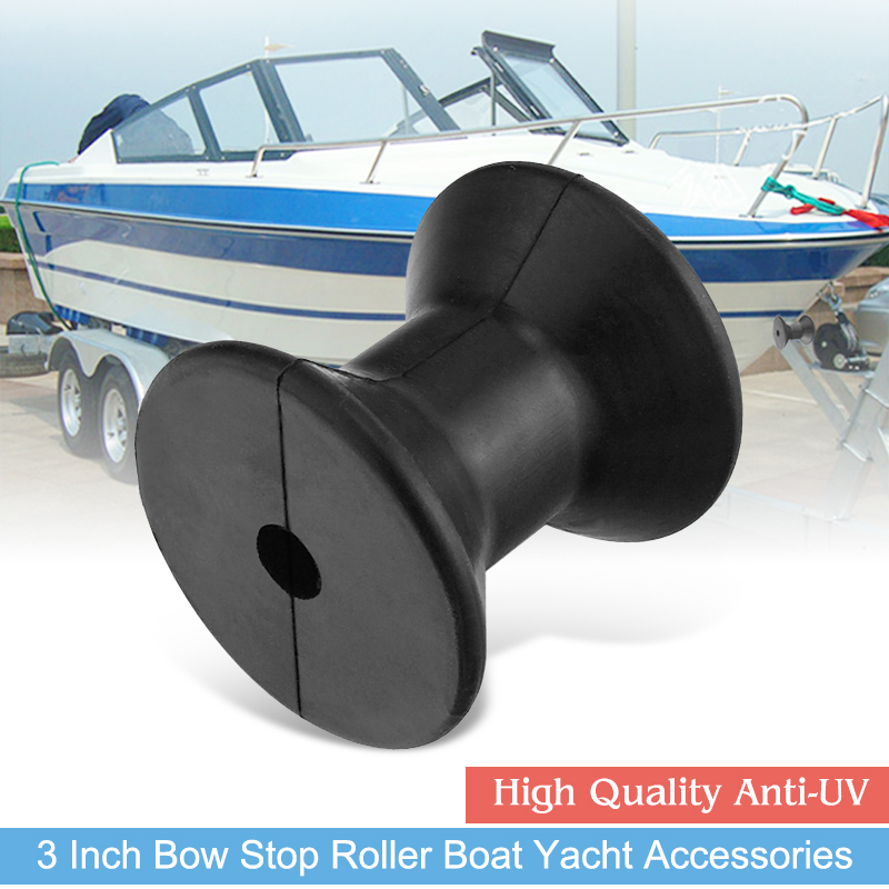 3 Inch Boat Bow Roller Marine Trailer Rubber Keel Roller For Sailboat Yacht Speedboat Canoe Anti-UV Boat Accessories Marine