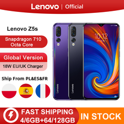 Перейти на Алиэкспресс и купить global version lenovo z5s snapdragon 710 octa core 64gb 128gb smartphone face id 6.3inch android p triple rear camera