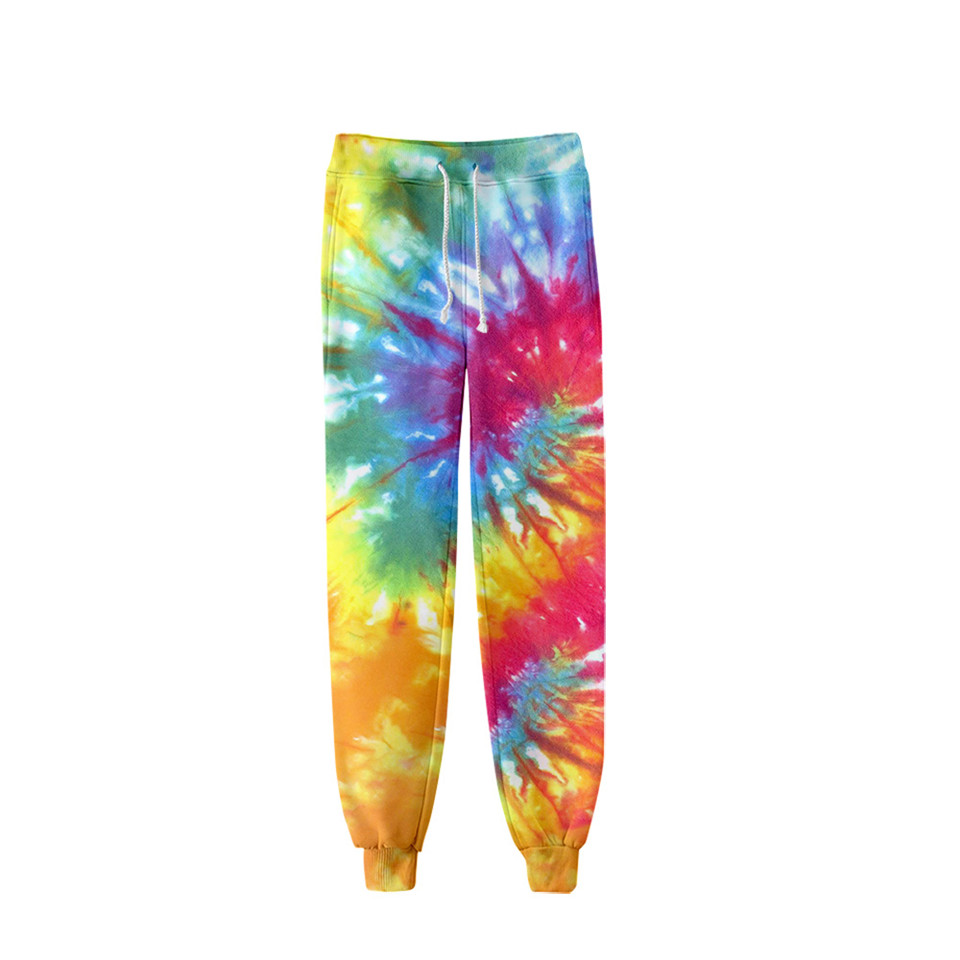 Tie Dye 3D Printed Sweatpants Fashion Harajuku Jogger Pants Colorful Psychedelic Track Pants Slim Streetwear Men/Women Trousers