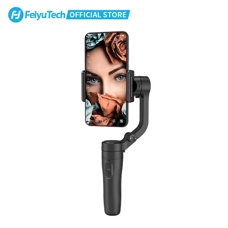 FeiyuTech Vlog kieszonkowy ręczny telefon Gimbal MiNi Smartphone stabilizator Selfie kij dla iPhone X 8 7 HUAWEI P20 MI Samsung Note9