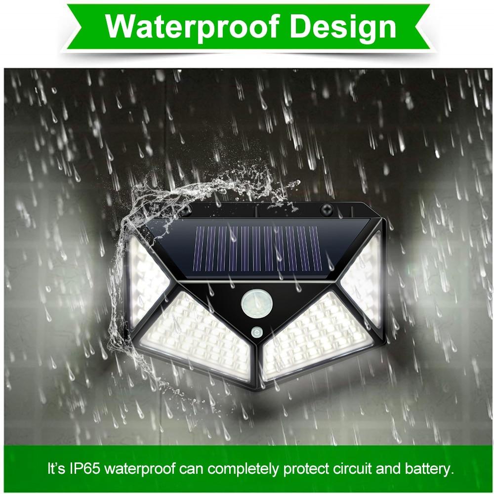 Jardim solar lâmpada pir sensor de movimento led luz solar alimentado por luz solar à prova dwaterproof água para parede ao ar livre rua decoração