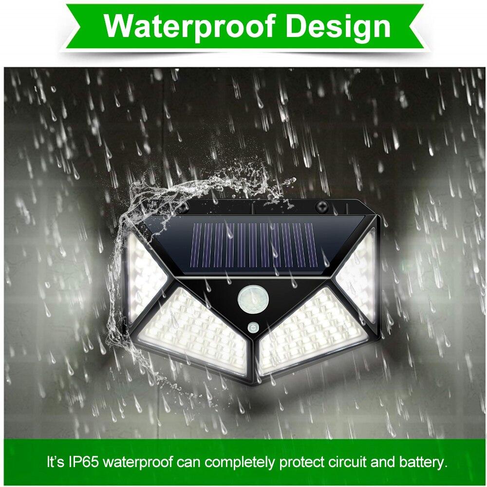 Lampe solaire de jardin PIR détecteur de mouvement LED lumière solaire actionnée par la lumière du soleil imperméable pour la décoration extérieure de rue de mur