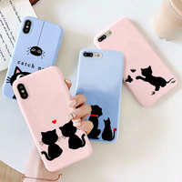 Custodia per animali simpatici gatti per Xiaomi Redmi Note 9 8 Pro 8T 9s 7 6 5 9C Mi Poco X3 NFC A1 5X A2 6X A3 8 9 9T 10 10T Lite Cover in TPU