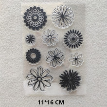 2020 Round Flowers Clear Stamps DIY Scrapbooking Craft Supplies Silicone Seal Custom Photo Album Transparent Stamp for Stamping