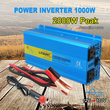 Us-Socket Car-Power-Supply Sine-Wave Peak Full-Power-Inverter AC Portable 110V 2000W