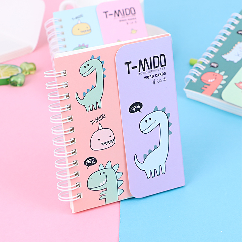Cartoon Foreign Language Learning Coil Book Vocabulary Portable Pocket Notebook Diary Notepad School Office Supplies Stationery