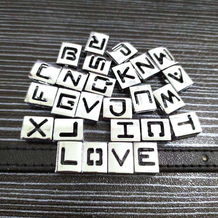 8mm-铬色方形镂空字母-11