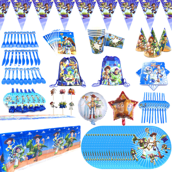 Toy Story Birthday Theme Party Supplies paper plates cup tableware tablecloth baby shower party decor flags birthday cake stand image