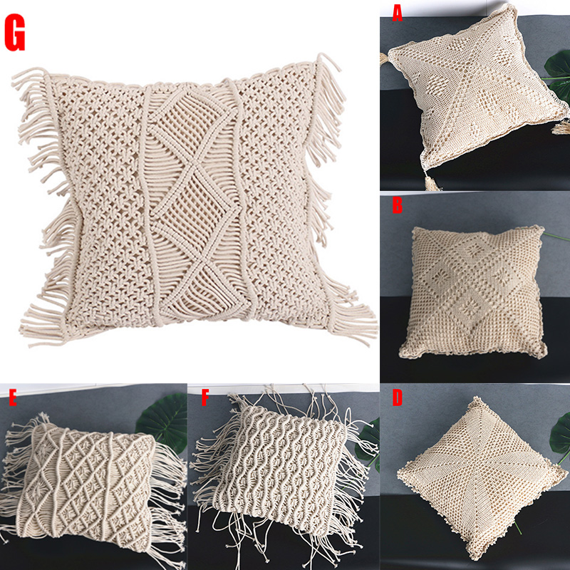 New Hot Bohemia Weaving Pillow Hug Pillowcase For Hold Pillow Home Decor Hollow Solid Color SMD66