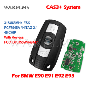 Image 3 - 3 Buttons Remote Key 433MHz 315MHz 315LP MHz 868MHZ for BMW 1 3 5 6 Series X1 X6 Z4 E60 E70 E71 E91 E92 2004 2015 CAS3 CAS3+