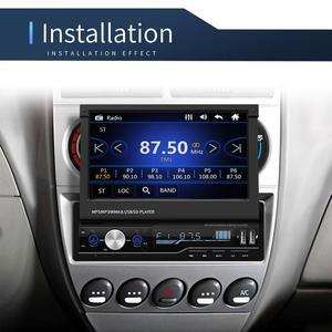 Image 2 - مشغل MP5 راديو للسيارة بشاشة لمس 7 بوصة 1 DIN يعمل بنظام تحديد المواقع للبحث عن بعد جهاز بلوتوث ستيريو قابل للسحب مع دعم لكاميرات الراديو متعددة اللغات