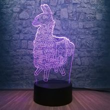 Novelty Creative Wooden Horse 3D LED Lamp RGB Blub 7 Color Change Child room Decoration Desk Table Night Light Christmas Gifts(China)