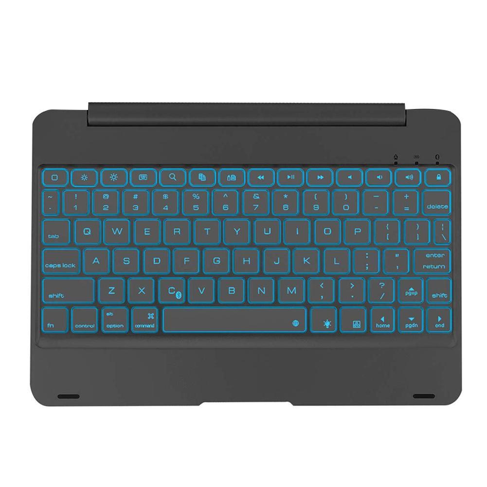 Ultra-thin Keyboard Case Bluetooth Keyboard Backlit Hard Shell Black Aluminum Alloy Keyboard Protective Cover For IPad 10.2 2019