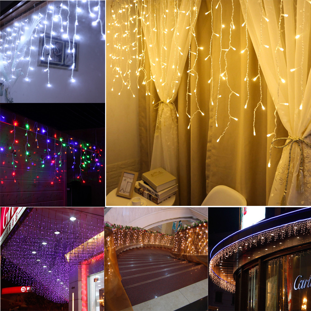 Buy 70# LED Fairy Lights Garland Curtain Lamp Remote Control USB String  Lights Christmas Decorations For Home Bedroom Window 923   Cicig