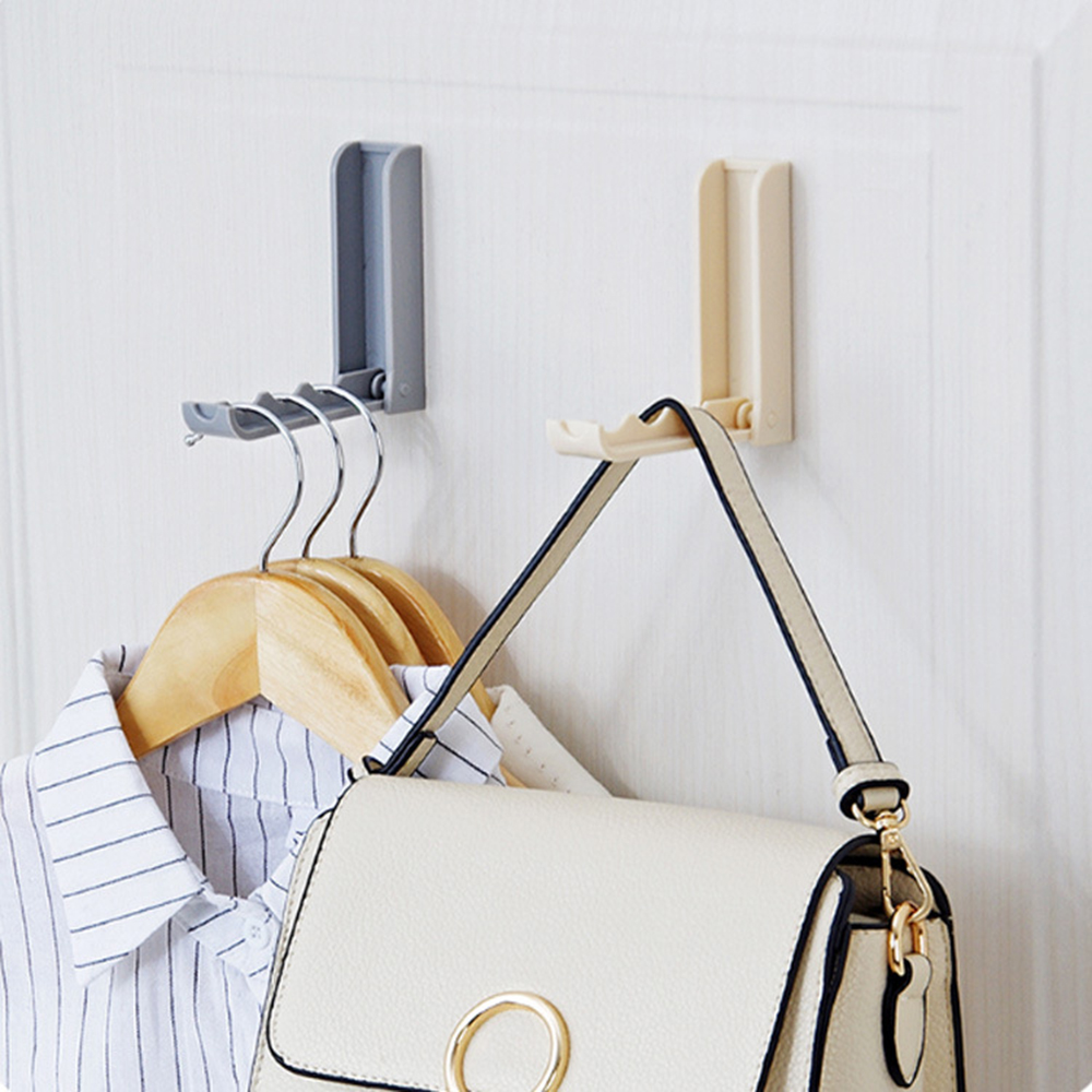 1 Pcs Storage Holders Hanger Foldable Hanging Self Adhesive Traceless Supplies Accessorie Hook Up Door Hook Hanger Hooks Durable