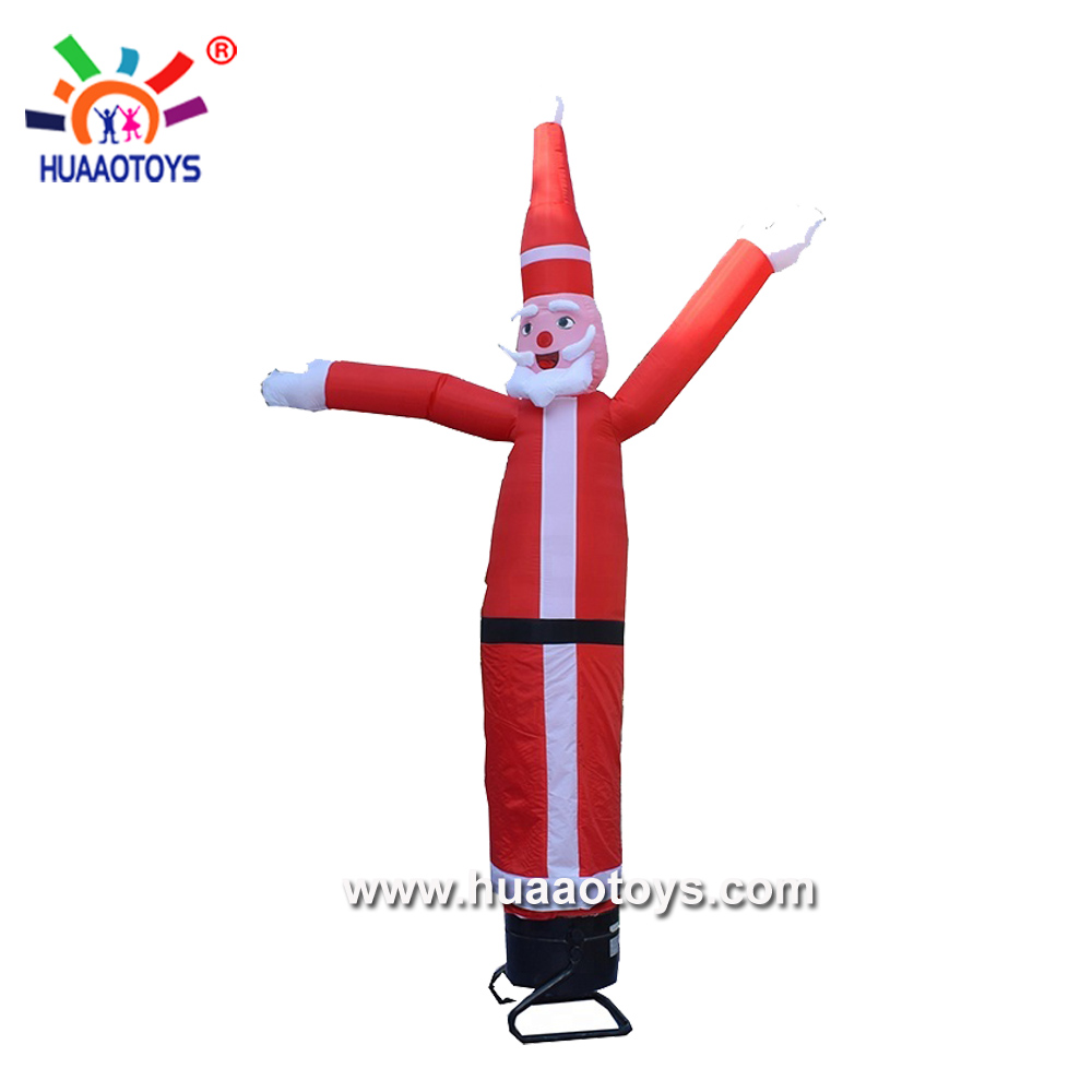 5m Giant Inflatable Santa clause Christmas Air Dancer Sky Dancer for Event, Advertising, Promotion
