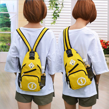 Shoulder bag backpack dual-use small chest girl Oxford cloth male trend Messenger