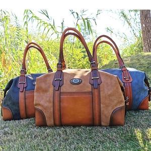 Image 2 - IMYOK Womens Vintage Leather Boston Bag Luxury Brand Designer Handbags Ladies Hand Shoulder Bags for Women 2020 Hot Sale Bolsos