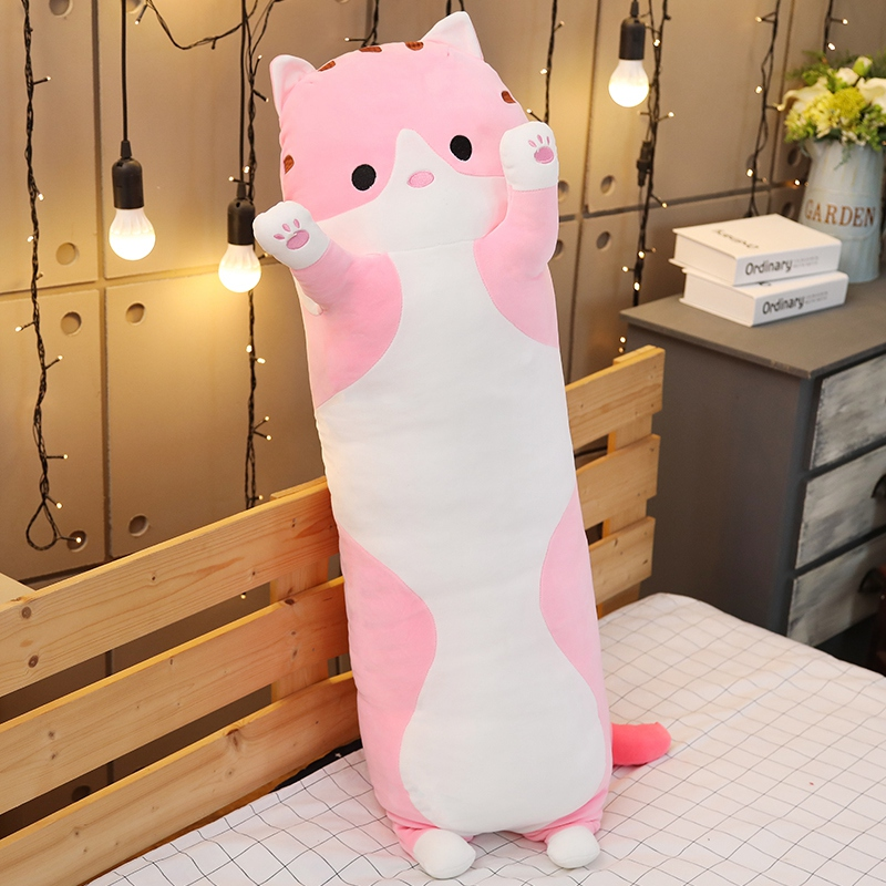 The Cat Sleep Pillow Long Pillow Cute Doll Doll Girl Plush Toy Lazy Man Bed On The Big Doll Cute Comfortable 70-110cm