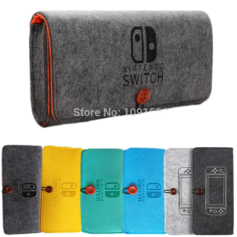 Storage Bag For Nintendos Switch Console Pika Case Durable Carrying Case For Nintend Lite NS Switch Game Console Felt bag(China)