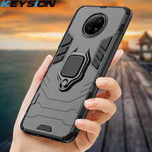 Keysion Shockproof Armor Case Voor Redmi Note 9T 9S 9 Pro 8 Pro 9A 9c 8A 5 6 7 7A Ring Stand Telefoon Back Cover Voor Xiaomi Redmi 9