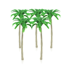 50cps 9-10cm model beach palm trees toys scale miniature ABS plastic color plants for diorama sandtable seashore scenery