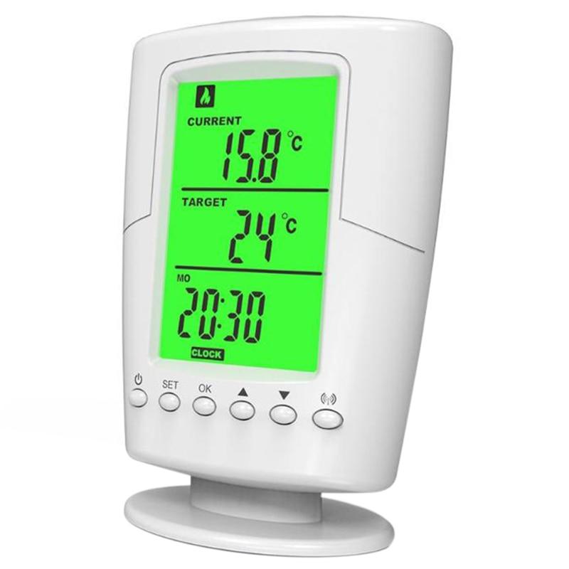 TS-2000 Programmable Wireless Thermostat Socket White Lcd Home Intelligent Temperature Control Socket New Design EU Plug