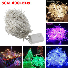 50M 400LED Starry LED Christmas Fairy Lights String Wedding Party Festival New Year Christmas tree Lights Garden Decorative Lamp
