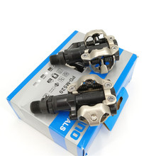 Original SPD PDM520 Black Bicycle Pedals With Cleats Set MTB Cycling Self Locking Road Bike Pedal Bearing Accessories
