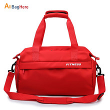 Fitness Gym Dry Wet Bags Women Travel Yoga Sac De Sport Training Bag With Shoes Pocket Fashion Multifunctional Shoulder Handbags(China)