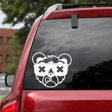 Самодельная наклейка в виде медведя высекающая на бампер для