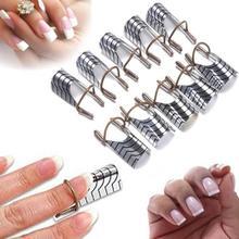 New 10Pcs Women Reusable UV Gel Acrylic Tips Nail Art Extens