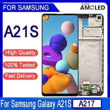 """الأصلي 6.5 """"LCD لسامسونج غالاكسي A21s A217 A217F LCD شاشة تعمل باللمس محول الأرقام لاستبدال سامسونج A21s SM A217F/DS العرض"""