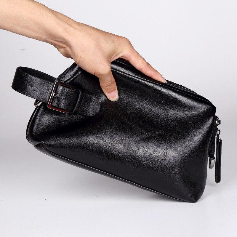 Documents d'affaires de loisirs pour hommes pochette à main sacs en polyuréthane sacs de téléphone portable pour hommes de mode coréenne