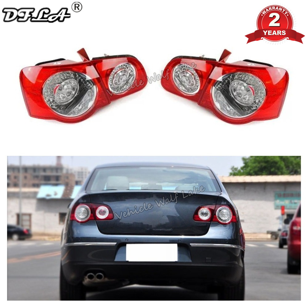 Car LED Rear Tail Light Lamp DRL For VW Passat B6 Sendan 2006 2007 2008 2009 2010 2011 Car-Styling Outer Inner Left Right Side