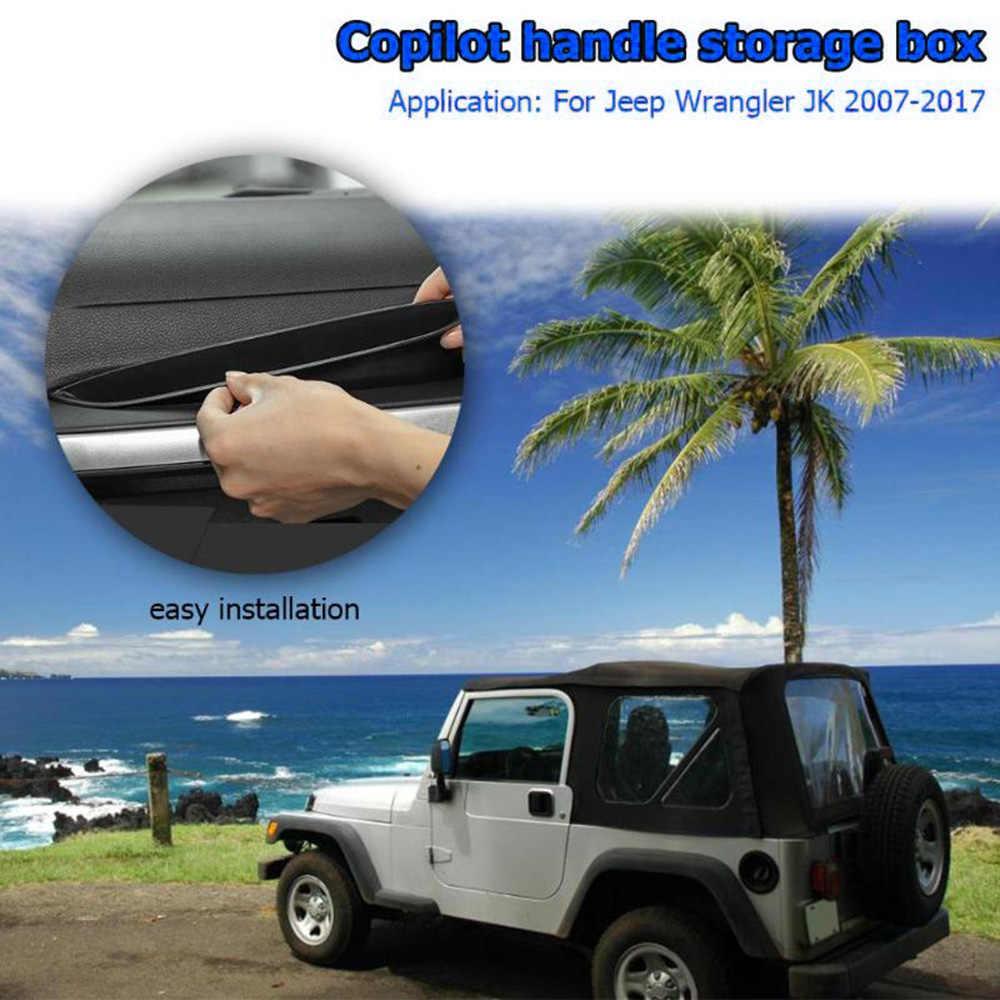 Boîte de rangement de siège de passager ABS | Boîte de rangement pour Jeep Wrangler JK 2007-2017 plus organisé