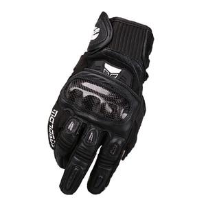 Image 3 - MOTOBOY Motorcycle Gloves Carbon Fibre Motocross Gloves Sheepskin Moto Gloves Touch Function Motorbike Gloves Guantes Luvas
