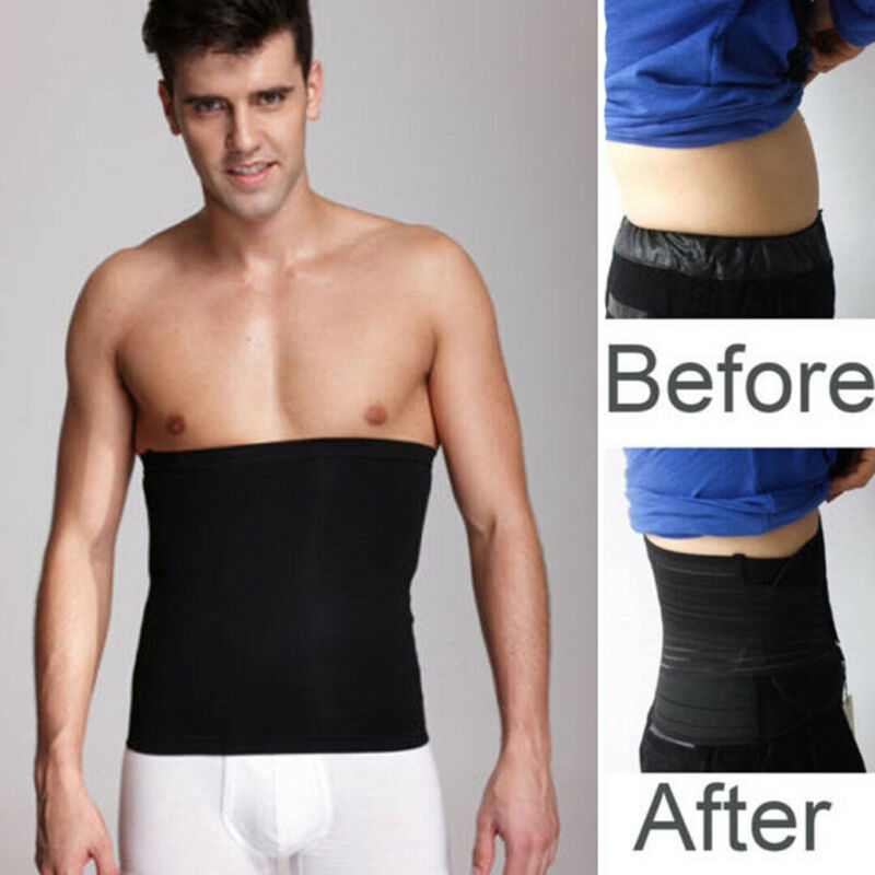 Men Tummy Belly Body Shaper Waist Trainer Underwear Shapewear Girdle Sports Belt